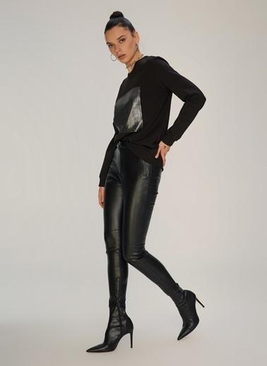 NGSTYLE Garni Detaylı Sweatshirt Siyah